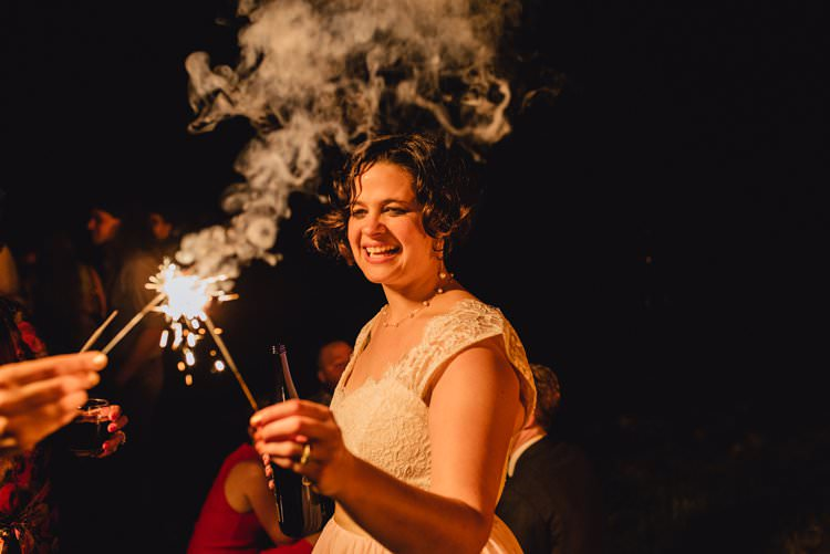 Outdoor Field Forest Wild Nature Marquee Tipi Bride Groom Sparklers | Breathtaking Secluded Back Garden Open Sided Tent Wedding Vermont https://kickasscouples.com/