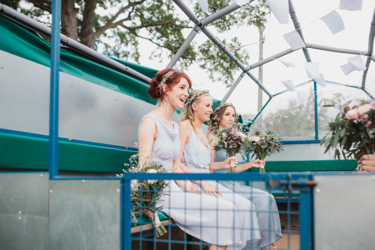 Tractor Trailer Transport Natural Country Garden Hand Crafted Wedding https://emilytylerphotography.com/
