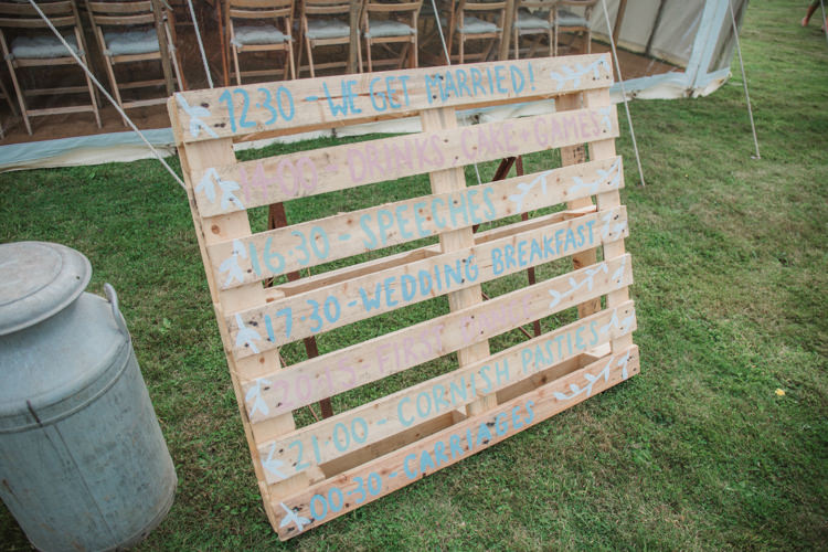 Wooden Pallet Sign Painted Natural Country Garden Hand Crafted Wedding https://emilytylerphotography.com/