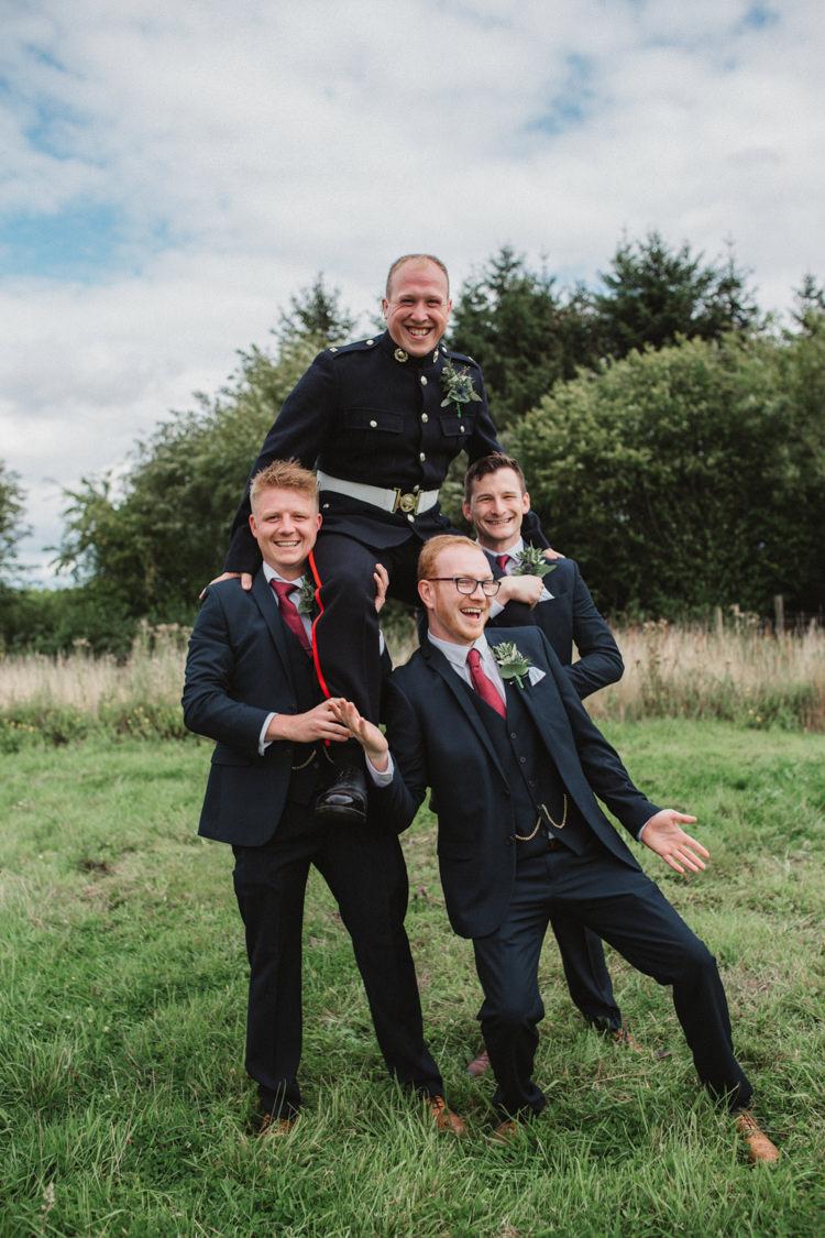 Groom Groomsmen Suits Uniform Natural Country Garden Hand Crafted Wedding https://emilytylerphotography.com/