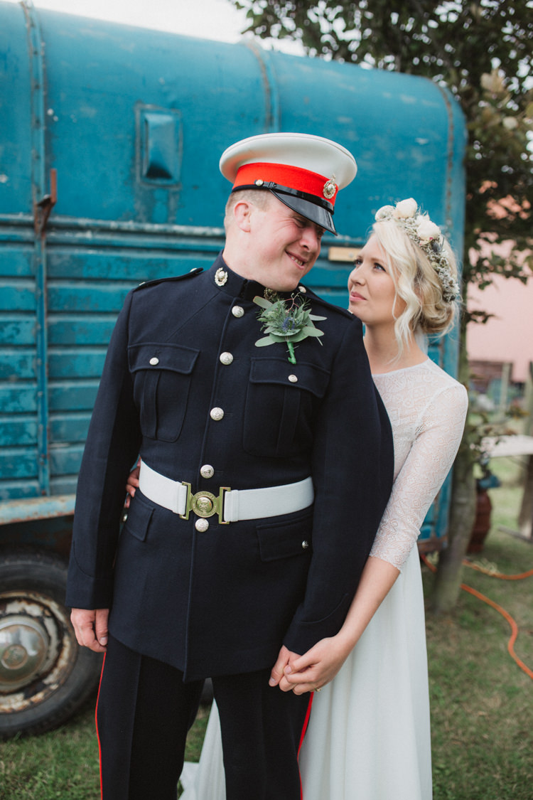 Groom Uniform Natural Country Garden Hand Crafted Wedding https://emilytylerphotography.com/
