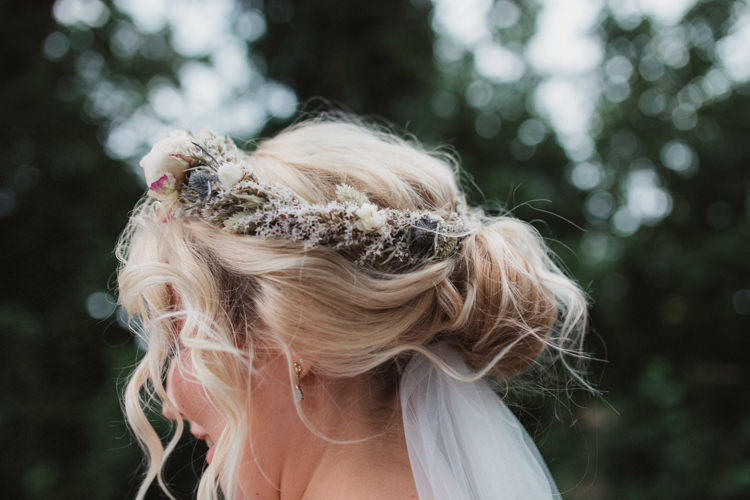 Hair Flowers Style Up Do Crown Bride Bridal Natural Country Garden Hand Crafted Wedding https://emilytylerphotography.com/