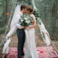 Bohemian wedding ideas whimsical wonderland weddings bohemian luxe greenery white wedding ideas junglespirit Gallery