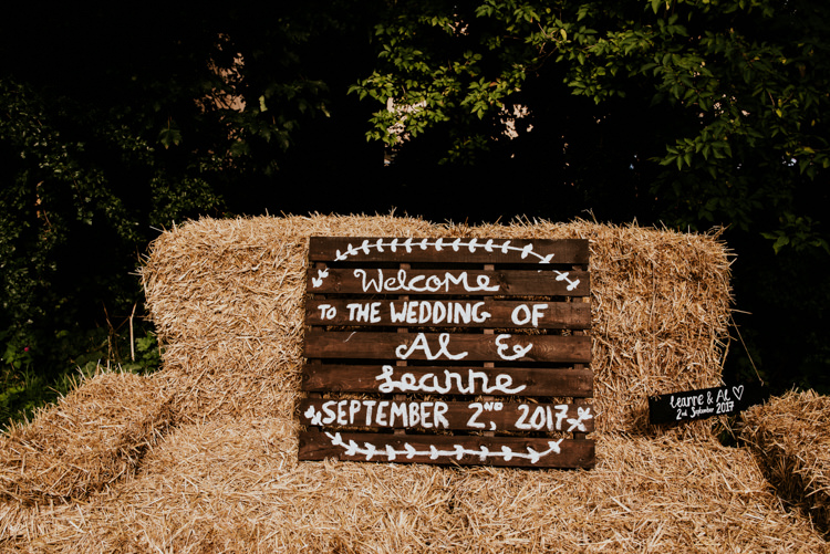 Hay Bale Giant Sofa Wooden Pallet Sign Handmade Painted Welcome Practically Perfect Tipi Camp Wedding Thwaite Mills https://photo.shuttergoclick.com/index