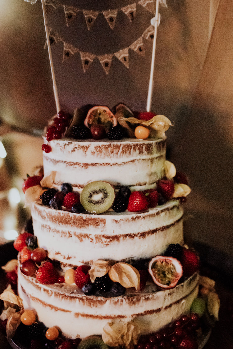 Semi Naked Cake Buttercream Bunting Topper Fruit Berries Practically Perfect Tipi Camp Wedding Thwaite Mills https://photo.shuttergoclick.com/index