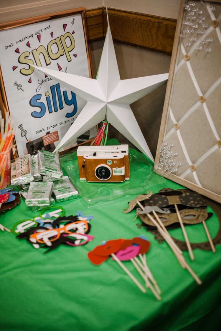 Photo Booth Polaroid Board Mask Fun DIY Wedding New Walk Museum Leicester https://www.daniellefrancescaphotography.com/