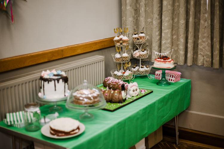 Cake Table Colin Caterpillar Dessert Bake Off Fun DIY Wedding New Walk Museum Leicester https://www.daniellefrancescaphotography.com/