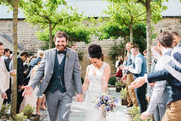 Confetti Throw Fun Joyful Pink Blue Summer Healey Barn Wedding Northumberland http://www.melissabeattie.com/