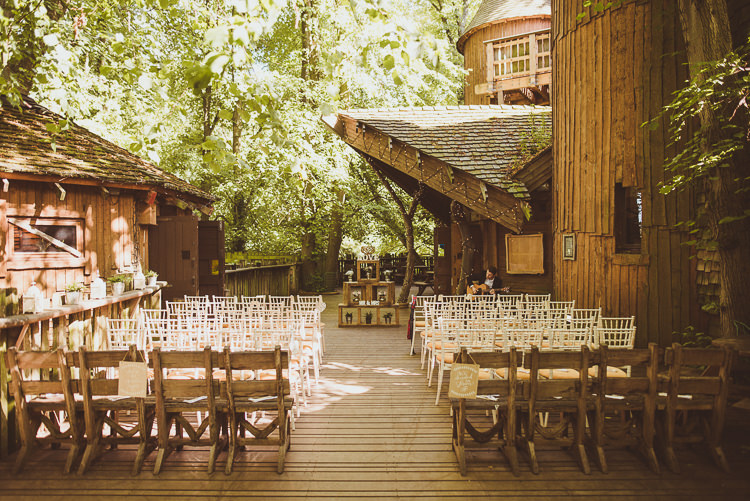 Outdoor Ceremony Rustic Relaxed Woodsy Alnwick Treehouse Northumberland Wedding http://www.mattpenberthy.com/