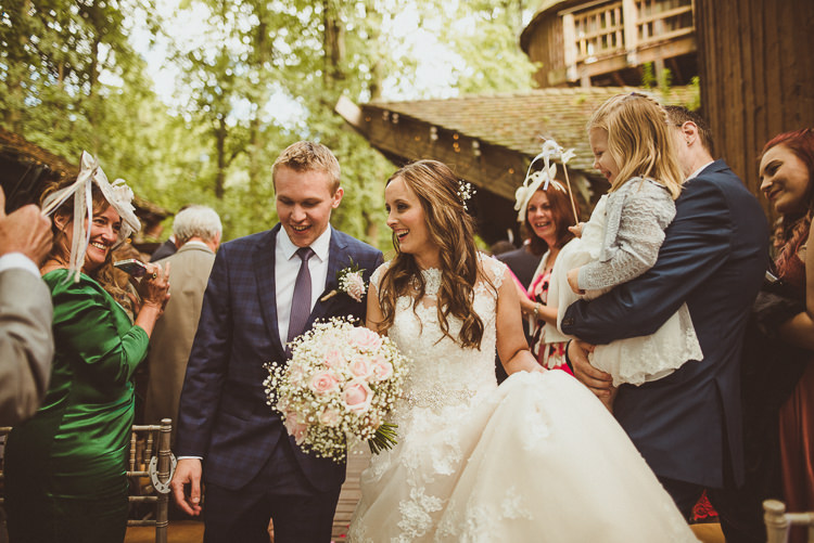Confetti Wands Aisle Ceremony Rustic Relaxed Woodsy Alnwick Treehouse Northumberland Wedding http://www.mattpenberthy.com/