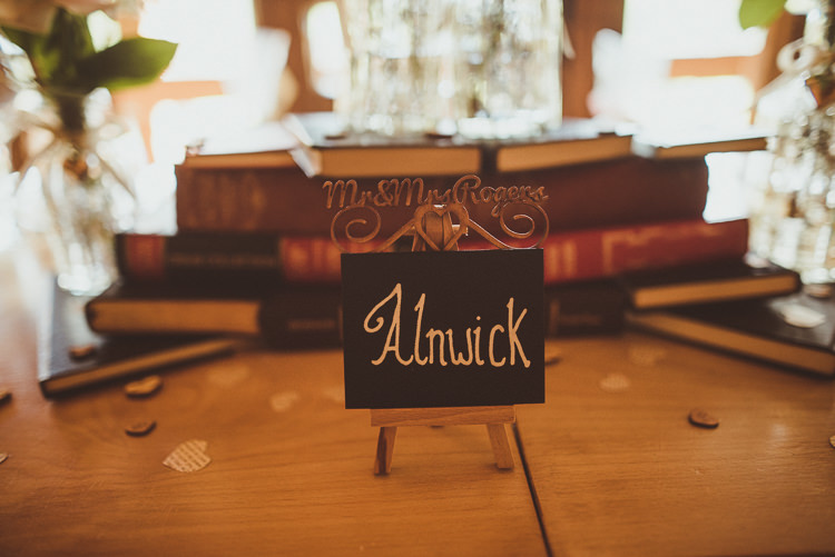 Table Names Chalk Black Rustic Relaxed Woodsy Alnwick Treehouse Northumberland Wedding http://www.mattpenberthy.com/