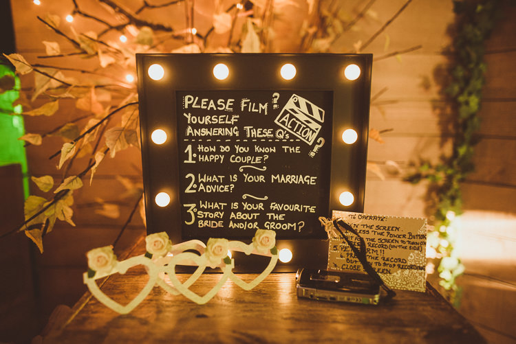 Guest Book Tape Film Questions Rustic Relaxed Woodsy Alnwick Treehouse Northumberland Wedding http://www.mattpenberthy.com/