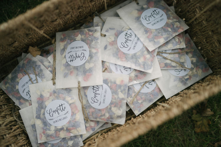 Confetti Real Petals Dried Basket Relaxed Bohemian Summer Meadow Wedding https://karibellamy.com/