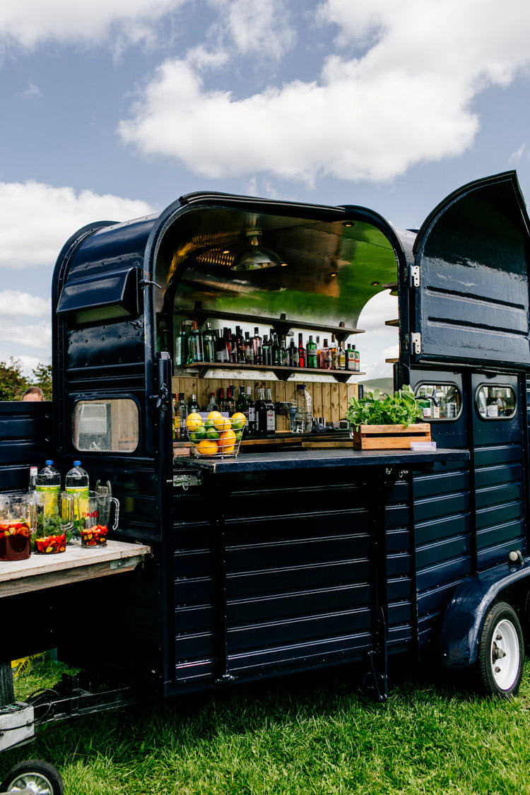 Horse Box Bar Drinks Truck Van Bright Fun Festival Boho Wedding The Party Field East Sussex http://epiclovestory.co.uk/