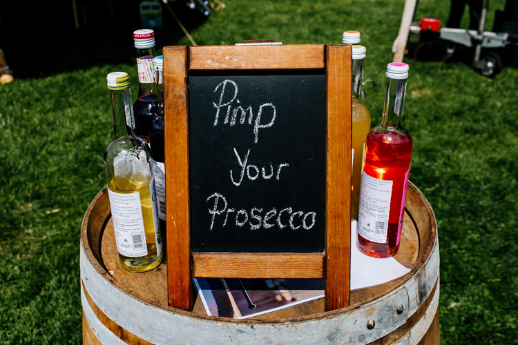 Pimp Your Prosecco Station Bar Drinks Bright Fun Festival Boho Wedding The Party Field East Sussex http://epiclovestory.co.uk/