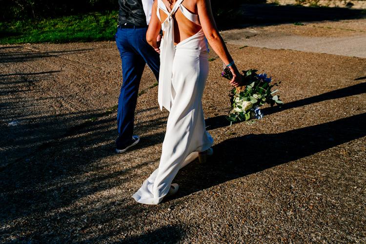 Laure de Sagazan Dress Gown Bride Bridal Bright Fun Festival Boho Wedding The Party Field East Sussex http://epiclovestory.co.uk/