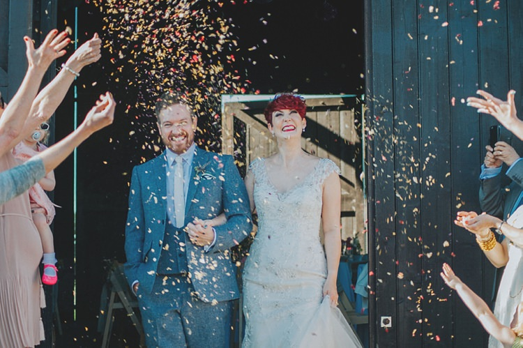 Bride Bridal Maggie Sottero Ivory over Gold V Neck Lace Groom Blue Suit Three Piece Waistcoat Bespoke Confetti Colourful Informal Wedding Victorian Fairground Games Elmley Nature Reserve Kent http://www.juliaandyou.com/