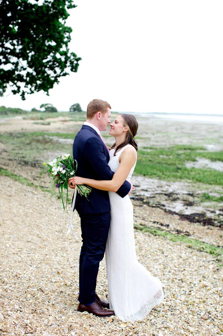 Blue Suit Groom Pink Tie Modern Simple Colourful Garden Wedding http://www.helencawte.com/