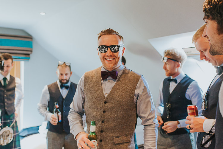 Groom Sunglasses Non-Traditional Country Party Barn Wedding Yorkshire http://www.lauracalderwood.co.uk/