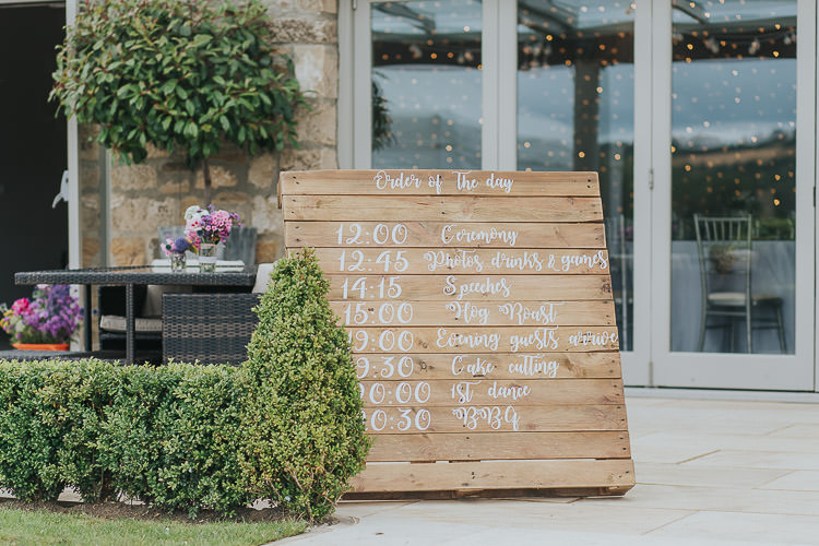 Wooden Pallet Sign Painted Calligraphy Lettering Non-Traditional Country Party Barn Wedding Yorkshire http://www.lauracalderwood.co.uk/