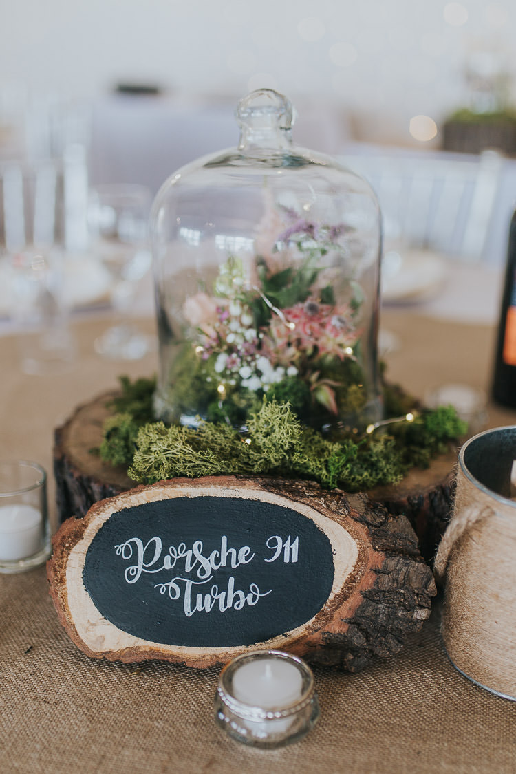 Log Chalk Black Board Slice Table Name Signs Non-Traditional Country Party Barn Wedding Yorkshire http://www.lauracalderwood.co.uk/
