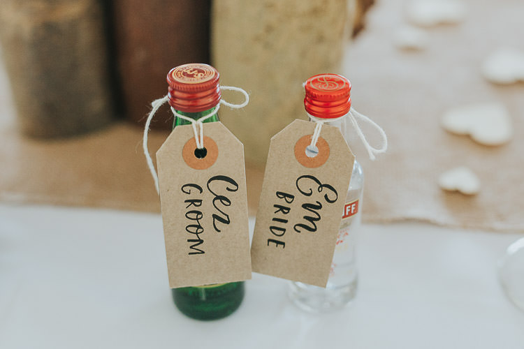 Place Names Luggage Tags Favour Drink Bottles Non-Traditional Country Party Barn Wedding Yorkshire http://www.lauracalderwood.co.uk/