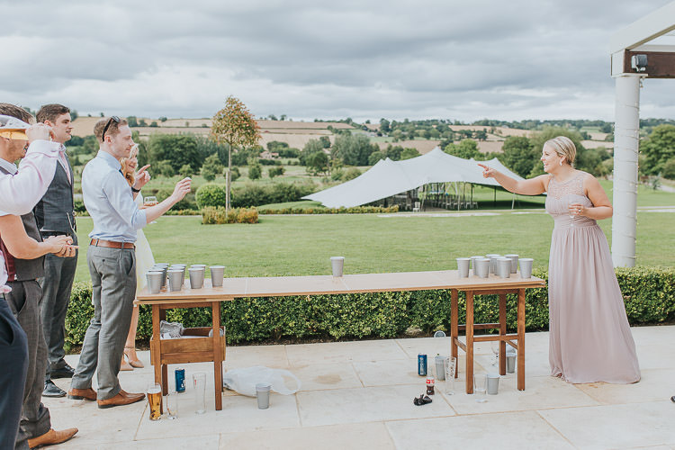 Beer Pong Non-Traditional Country Party Barn Wedding Yorkshire http://www.lauracalderwood.co.uk/