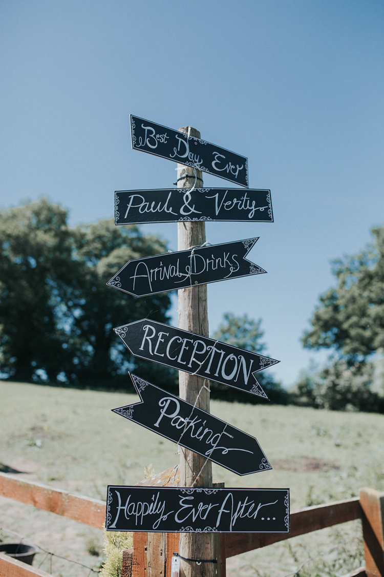 Direction Sign Signage Arrows Rustic DIY Stylish Homemade Country Summer Marquee Wedding Millers of Netley Shropshire http://www.joboultonphotography.com/