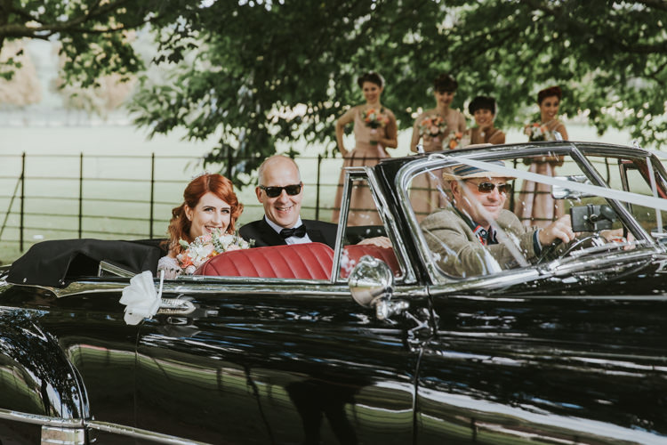 Classic Convertable Car Alternative Vintage 1950s Knighton House Wedding Dorset http://www.paulunderhill.com/