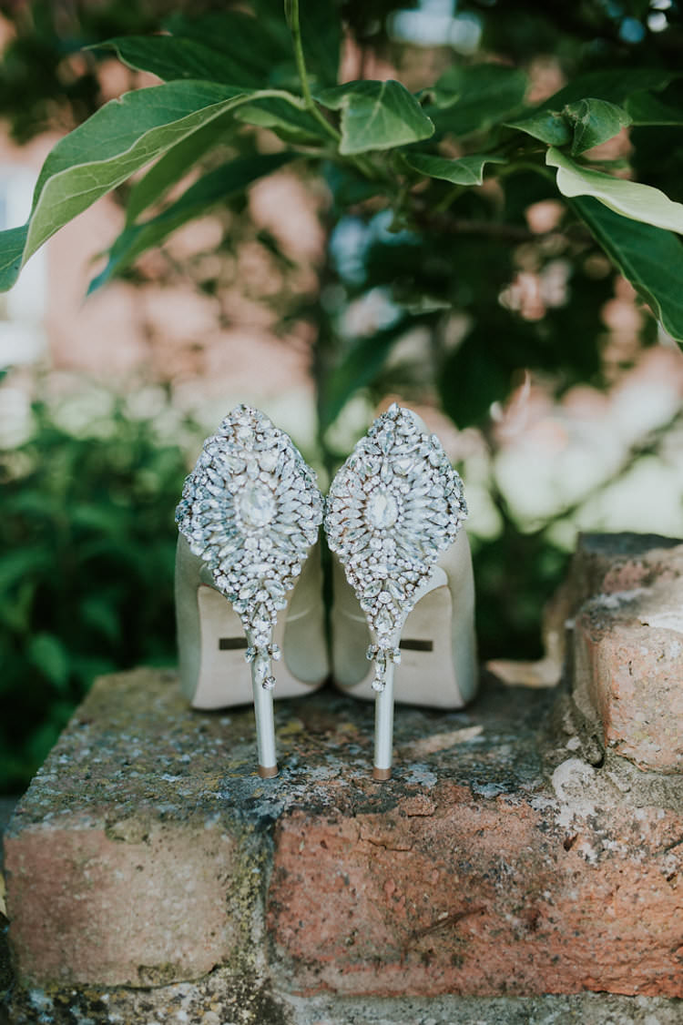 Bride Bridal Shoes Encrusted Jewelled Stiletto Stylish Homemade Country Summer Marquee Wedding Millers of Netley Shropshire http://www.joboultonphotography.com/