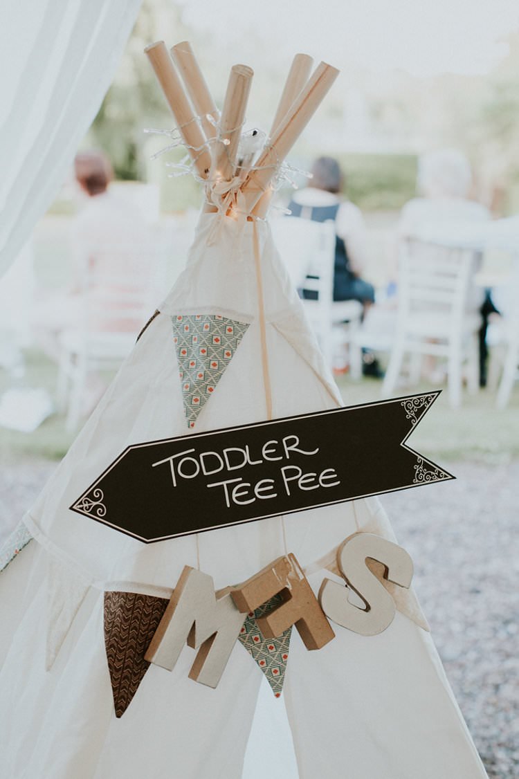 Toddler Tipi Bunting Creche Stylish Homemade Country Summer Marquee Wedding Millers of Netley Shropshire http://www.joboultonphotography.com/