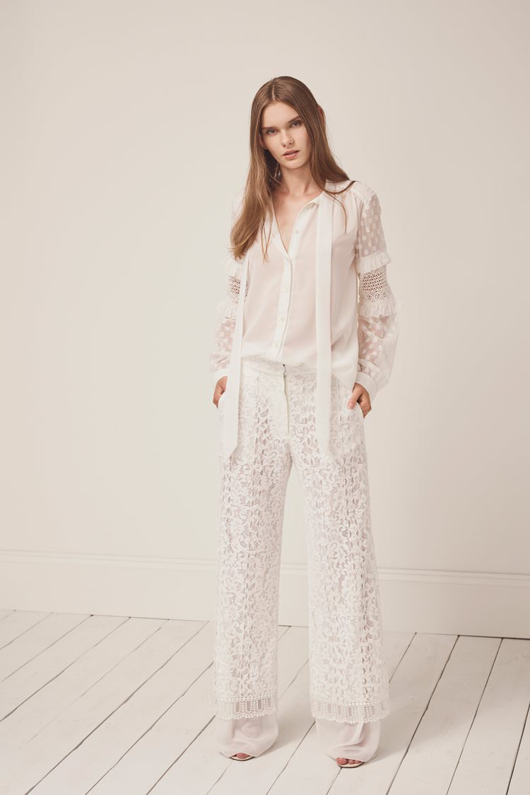 French Connection Modern Bridal Wedding Wear Trousers Top Jumpsuit