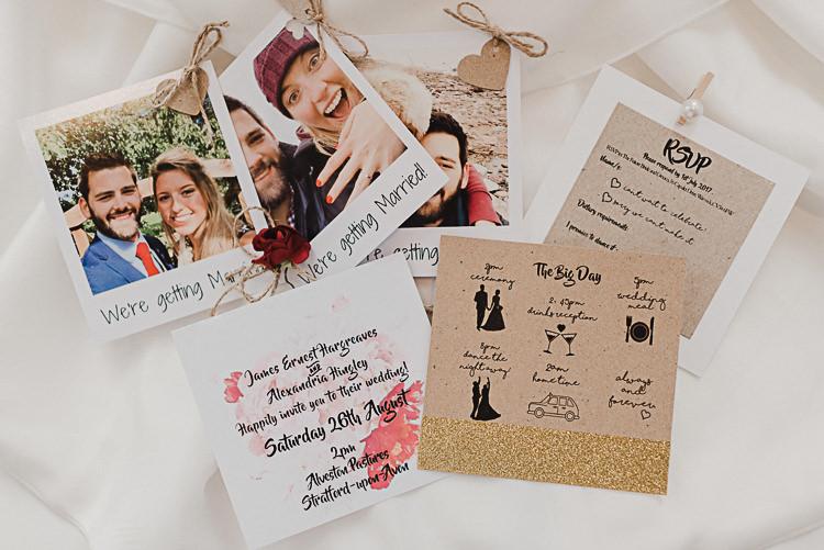Stationery Invitations Polaroid Save the Date Magical Marquee Summer Alveston Pastures Farm Wedding https://willpatrickweddings.com/