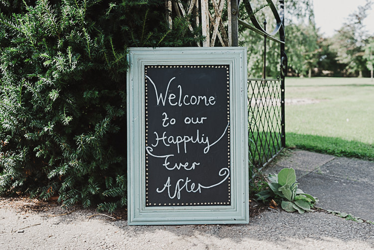 Welcome Sign Chalk Board Fairytale Magical Marquee Summer Alveston Pastures Farm Wedding https://willpatrickweddings.com/