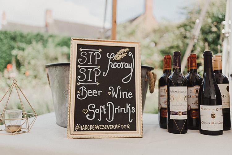 Bar Sign Sip Sip Hooray Instagram Hashtag Chalk Board Magical Marquee Summer Alveston Pastures Farm Wedding https://willpatrickweddings.com/