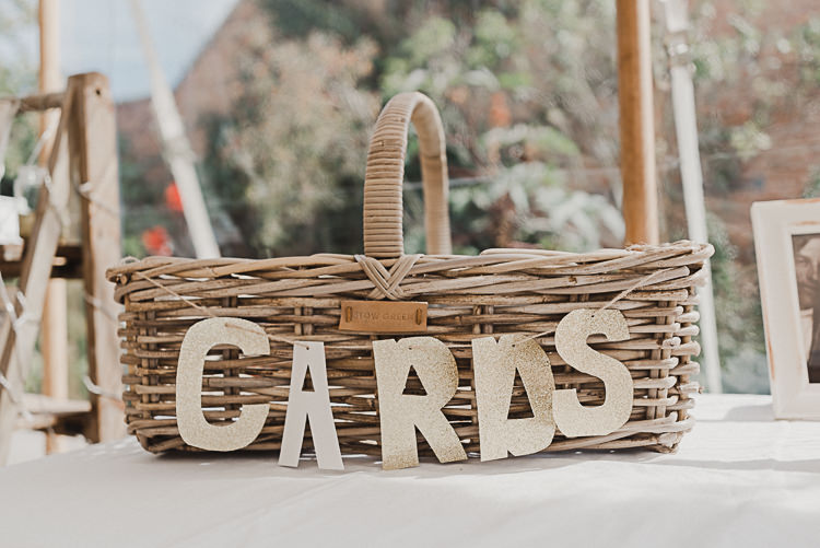 Bunting Cards Basket Magical Marquee Summer Alveston Pastures Farm Wedding https://willpatrickweddings.com/