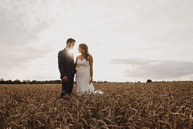 Bride Bridal Sleeveless Backless Dress V Neck Blue Suit Groom Pink Tie Grey Waistcoat Three Piece Magical Marquee Summer Alveston Pastures Farm Wedding https://willpatrickweddings.com/