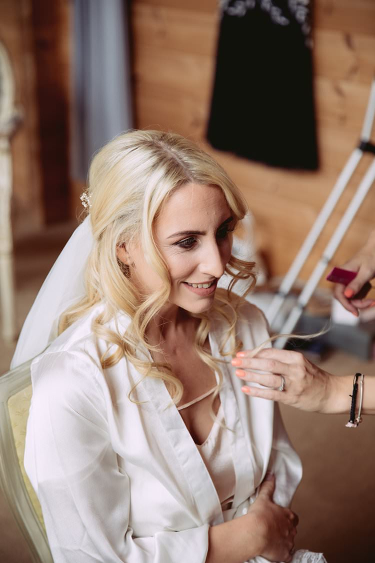 Make Up Hair Bride Bridal Up Down Half Waves Greenery White Contemporary Wedding Styal Lodge Cheshire http://hayleybaxterphotography.com/