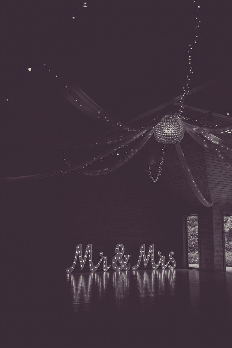Lighting Lights Fairy Fabric Disco Ball Letters Dancefloor Greenery White Contemporary Wedding Styal Lodge Cheshire http://hayleybaxterphotography.com/