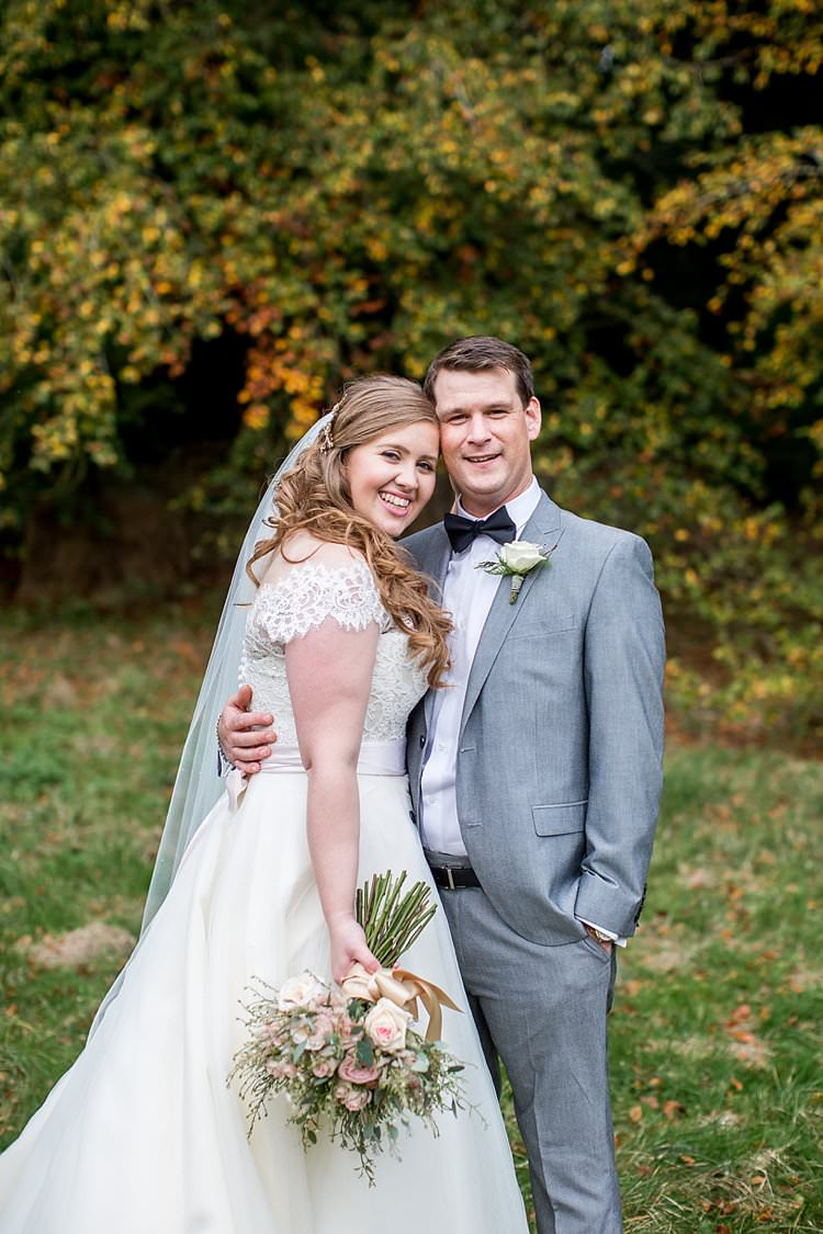 Rustic Autumn Blush Pink Gold Wedding Narborough Hall Gardens Norfolk http://katherineashdown.co.uk/