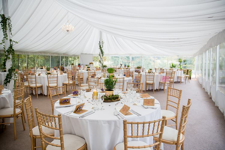 Clear Side Marquee Rustic Autumn Blush Pink Gold Wedding Narborough Hall Gardens Norfolk http://katherineashdown.co.uk/