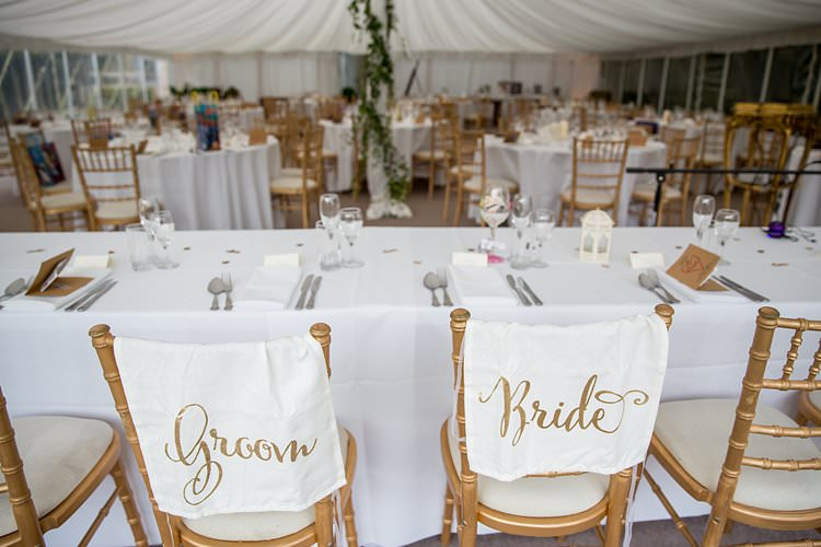 Bride Groom Chair Signs Banners Rustic Autumn Blush Pink Gold Wedding Narborough Hall Gardens Norfolk http://katherineashdown.co.uk/