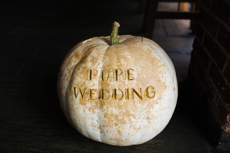 Pumpkin Autumn Packington Moor Wedding Staffordshire Farm Barn Burgundy http://kathrynedwardsphotography.com/