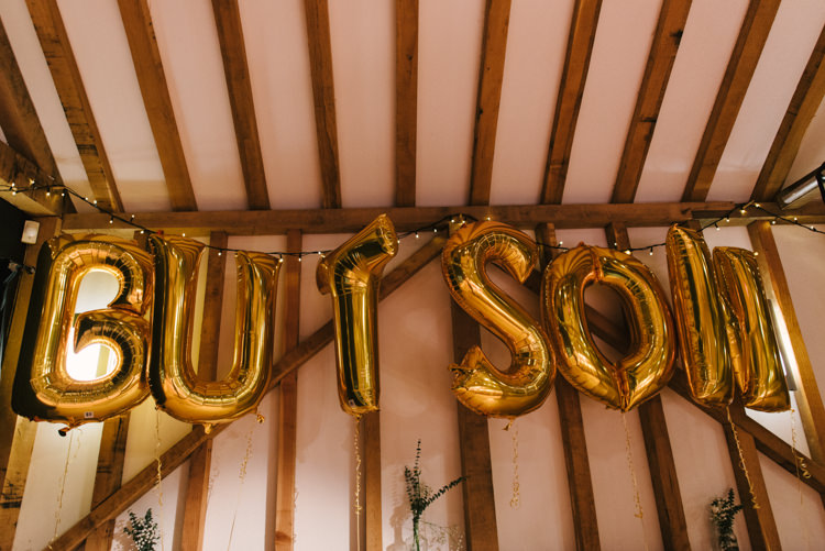 Gold Balloons Letters Alternative Rainbow Fun Loving Budget Wedding Hanger Farm Arts Centre Southampton https://www.nicolastreaderphotography.co.uk/