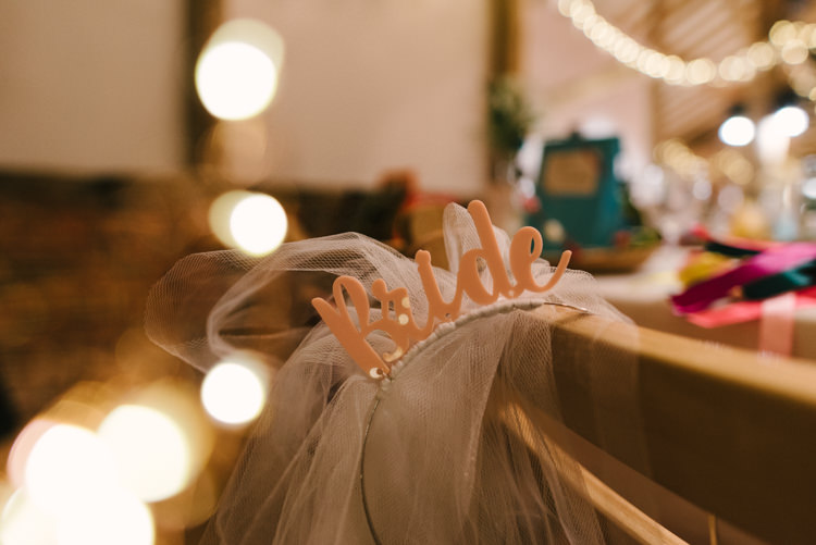 Bride Veil Headband Alternative Rainbow Fun Loving Budget Wedding Hanger Farm Arts Centre Southampton https://www.nicolastreaderphotography.co.uk/