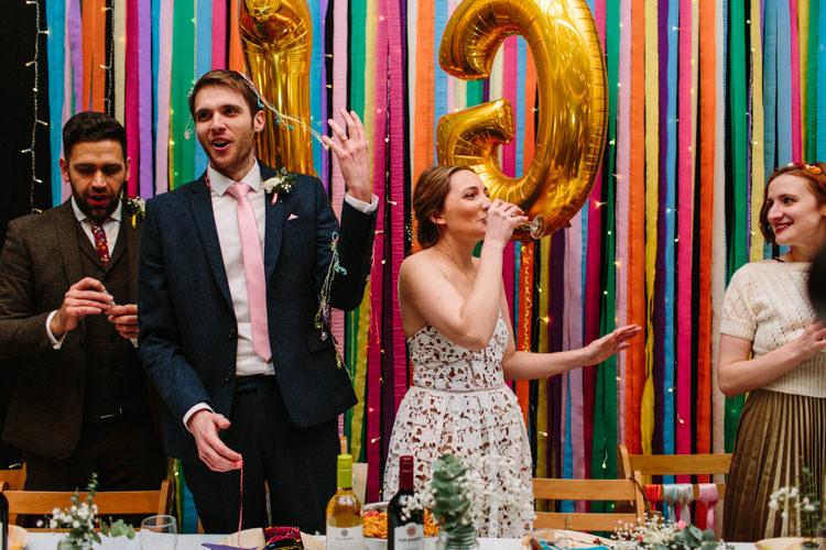 Alternative Rainbow Fun Loving Budget Wedding Hanger Farm Arts Centre Southampton https://www.nicolastreaderphotography.co.uk/