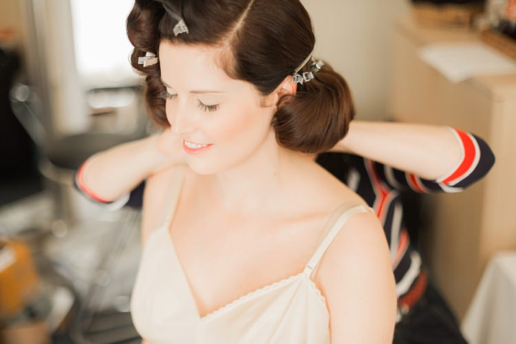 Hair Make Up Bride Bridal Retro Vintage 1930s Wedding Worthing Pier West Sussex https://clairemacintyre.com/