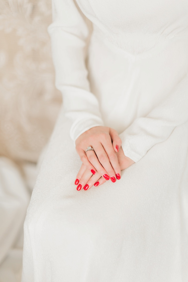 Red Nails Manicure Bride Bridal Vintage 1930s Wedding Worthing Pier West Sussex https://clairemacintyre.com/