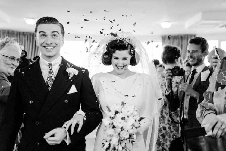 Confetti Vintage 1930s Wedding Worthing Pier West Sussex https://clairemacintyre.com/