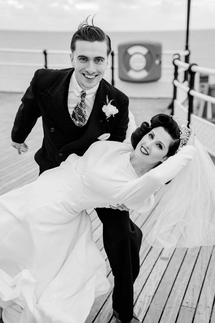 Vintage 1930s Wedding Worthing Pier West Sussex https://clairemacintyre.com/